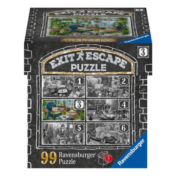 Ravensburger EXIT Puzzle 16879 - Im Gutshaus Wintergarten -Puzzle für Erwachsene und Kinder ab 14 Jahren