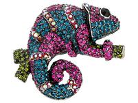 Brosche - Coloured Gecko