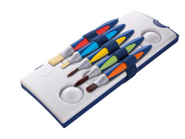 Pelikan 700733 - Schul Pinsel Set, griffix mit Band, 5er Set
